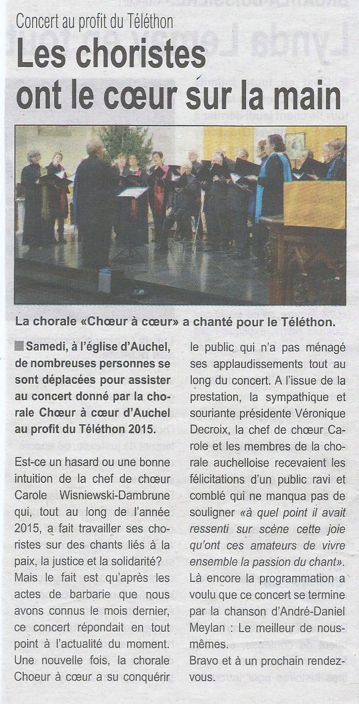 article telethon 2015